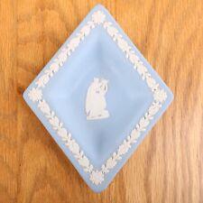 Wedgwood Jasperware Lite Blue Diamond Plate Woman With Harp