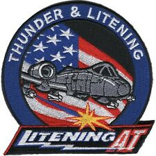 USAF  A-10 Thunder & Lightening AT HOOK& LOOP  MILITARY PATCH