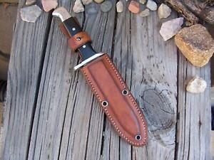 BUCK Knives 124 Frontiersman LF Custom Leather Paddle Sheath