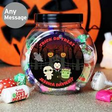 Halloween Personalised Swizzles Matlow Sweets Jar Halloween Party Kids