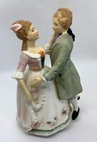 """Sankyo Music Box Porcelain Waltzing Couple """"Lara's Theme"""""""