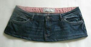 6 1/2 Inch Length Dark Blue Denim  Micro Mini Skirt - Plus Size 14 - 16