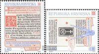 Kroatien 361-362 (kompl.Ausg.) gestempelt 1995 Kroatische Inkunabeln