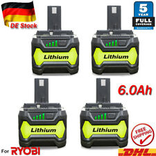18 Volt Für Ryobi RB18L50 18V 6AH Lithium Akku P108 P104 RB18L40 RB18L25 RB18L13