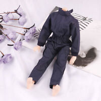 Dark blue handmade boy doll jumpsuits for 1/6 doll party casual wear clothes.AU