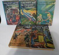Tom Swift Lot of 5 book HB by Victor Appleton II Jr. Adventures