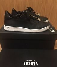 VERSUS VERSACE Safety Pin Trainers Sneakers in Black/White Size UK 4, 5, 6