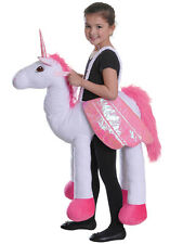 Girls Kids Ride On Unicorn Fantasy Riding Stand In Fancy Dress Up Costume Outfit