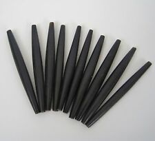 """Genuine Horn Hairpipe Bead Black Long Large 4"""" Hair Pipe Jewelry Craft Lot of 10"""
