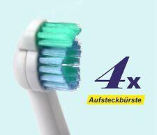 4 x Ersatzbürstenköpfe für Philips Sonicare, Sensiflex, Aufsteckbürsten HX2012