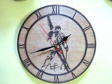 Freddie Mercury Queen Wall Clock  engraved on wood gift item