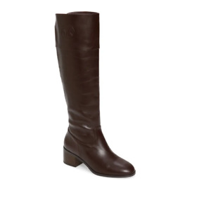 Michael Kors Dylyn Women Knee High Riding Boots Barolo Brown Leather