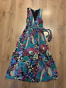 Anthropologie Boardwalk Floral Night Out Maxi Dress by Maeve Size 14p VGC