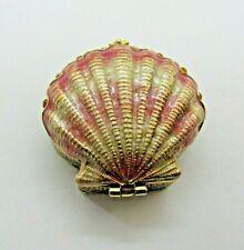 Monet Sea Shell Collectible Enamel Keepsake Trinket Box Hinged Retired