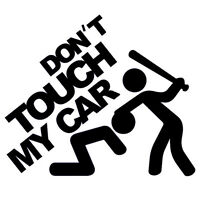 "Touch My Car!"" Truck Vinyl Hellaflush JDM Windshield Car Sticker Window Decal"