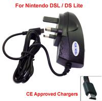 Nintendo DS LITE NDSL mains charger adapter uk 3 pin UK standard CE Approved