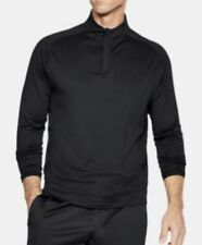 Under Armour Ua Mens Size Small Golf Tiger Style 1/4 Zip Top Black Brand New!