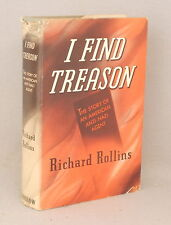 Vintage Story of an AMERICAN ANTI-NAZI AGENT Richard Rollins I FIND TREASON