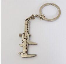Moving Parts Caliper Key Ring Verneer Keyring Keychain Keyrings Tool Silver Tone