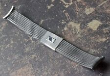 Vintage watch steel mesh American-made NOS band Evinger 1960s 19mm curved ends