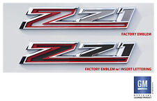 2019 20 Chevy Silverado RST Trail Boss LT Z71 Fender Emblem Insert Letters Set