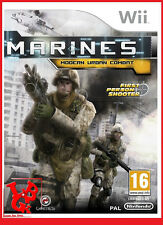 MARINES Modern Urban Combat Wii Nintendo jeu Video compatible Wiiu Wii-U