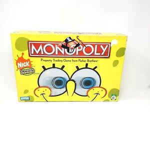 Monopoly SpongeBob SquarePants Board Game 2005 Collector Edition 3D Eye Complete