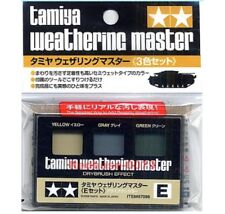 TAMIYA 87098 Weathering Master E SET DUST Colors YELLOW GRAY GREEN