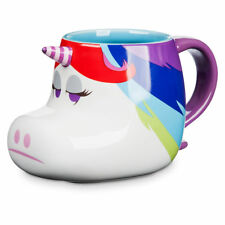 Disney Store Rainbow Unicorn Inside Out Figural Ceramic Coffee Cup Mug 16oz New
