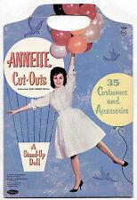 Vintage Whitman #1956 ANNETTE FUNICELLO paper dolls 1962 cut w/ FOLDER/TOTE
