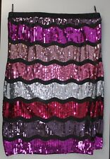 Forever 21 Plus Pink Sequin Knee Length Skirt size 3X [GS 2]