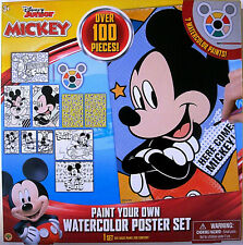 Mickey Mouse Clubhouse,Paint Your Own Watercolor Posters,W/ Brush,Paint,Posters