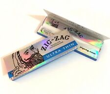 8 BOOKLETS - ZIG ZAG ULTRA THIN 1 1/4 (1.25) ROLLING CIGARETTE PAPERS -ORIGINAL