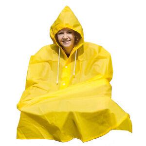 Waterproof Cycling Rain Cape / Poncho - One Size - Yellow