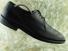Allen Edmonds Brogue Pebbled Men Black Leather 10.5B Oxford Shoe Lace Up Work