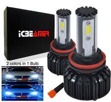 One Set H11 COB Xenon LED Canbus 6000k 30000K White & Blue Combo Kit U11