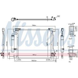 1 Condenseur, climatisation NISSENS 940555 convient à NISSAN