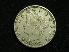 COLLECTIBLES SALE!! AU  1883 LIBERTY V NICKEL IN COLLECTIBLE CONDITION 7B
