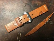 Handmade 24mm Swiss Army leather Ammo watch strap. Pam tubes