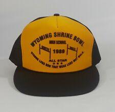 Vtg 1989 Wyoming Shrine Bowl All-Star High School Senior Football Snapback Hat