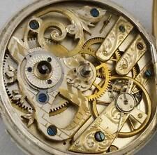 1880s Engraved Movement Colour Enamel Dial Silver Case Pocket Watch SERVICED