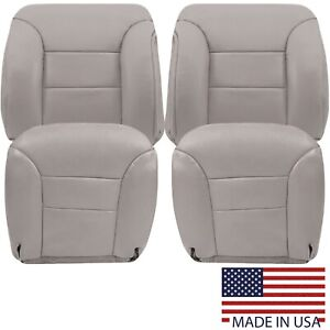 1995 1996 1997 1998 1999 Chevy Tahoe Suburban Synthetic Leather Seat Cover Gray