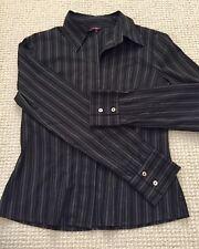 CUE size 10 women's long sleeve business shirt