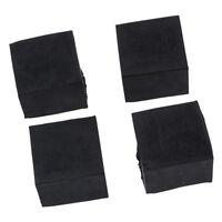 4Pcs Black Square Chair Table Leg Rubber Foot Covers Protectors 28mm x 28mm N7Q9