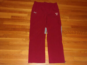 UNDER ARMOUR TEMPLE OWLS CHERRY RED/GRAY ATHLETIC PANTS MENS LARGE EXCELLENT