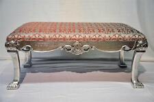 Italian Baroque  Decorative Silvered Leaf Long Bench With Exceptional Carving!