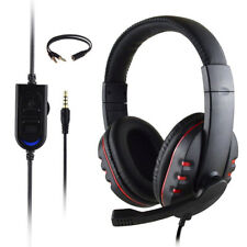 New 3.5 mm Jack Stereo Surround Wired Gaming Headset Headphone with Mic For PC