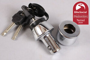 RoundLock Sold Secure Motorcycle Gold Dumbbell Type Lock