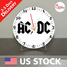 NEW AC/DC CD Clock Rock Music - Decor Idea for Home