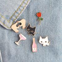 Enamel Piercing Brooch Pins Shirt Collar Pin Breastpin Women Jewelry Gift&& jo